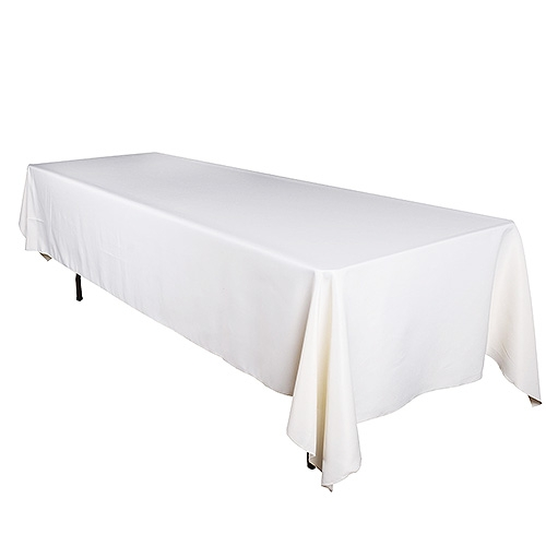 Ivory 90 x 156 Inch Rectangle Tablecloths