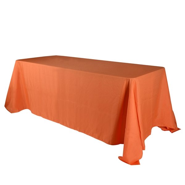 Orange 90 x 156 Inch Rectangle Tablecloths