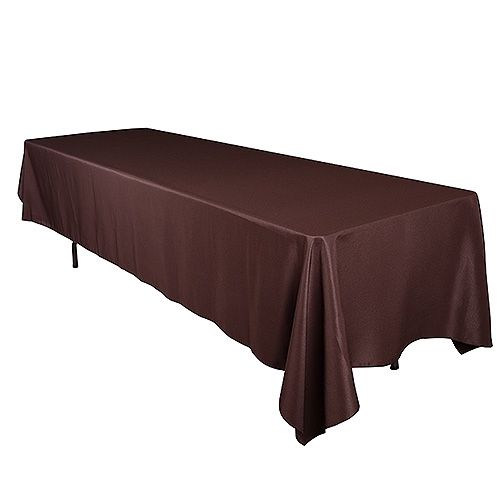 Chocolate Brown 90 x 156 Inch Rectangle Tablecloths