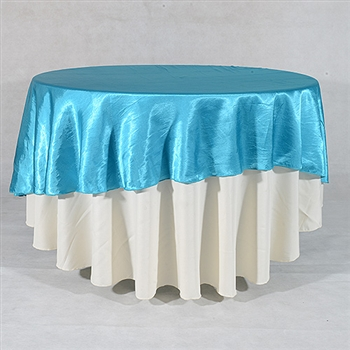 Turquoise 90 Inch Round Satin Tableclothss