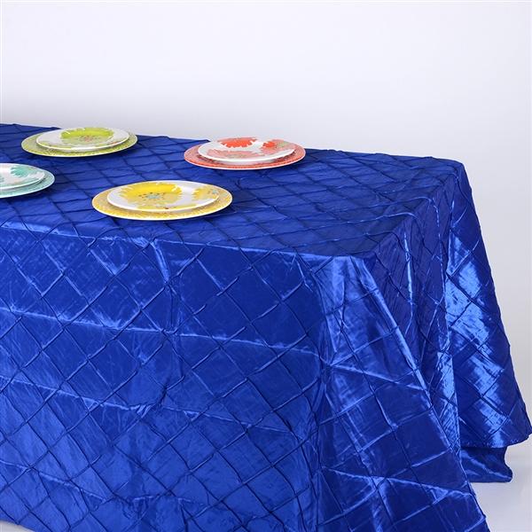 Royal 90 inch x 132 inch Pintuck Satin Tablecloth