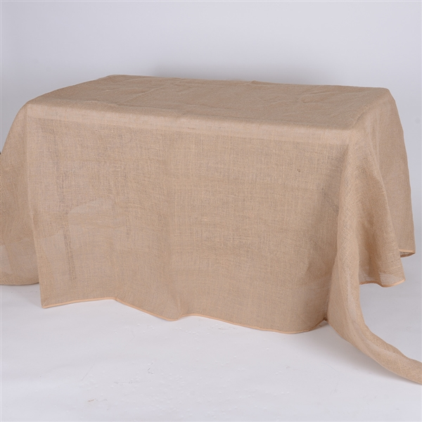 60x126 Inch Fine Rustic Jute Burlap Rectangle Tablecloths