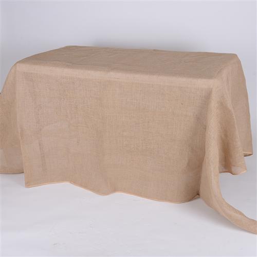 90x156 Inch Fine Rustic Jute Burlap Rectangle Tablecloths