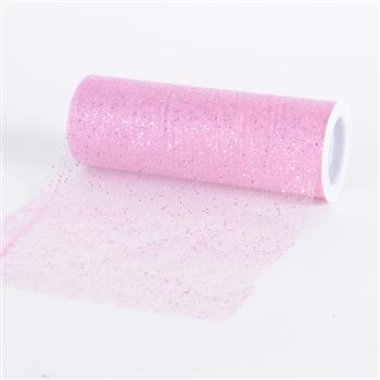 Pink Confetti Organza 6 Inch Roll 10 Yards