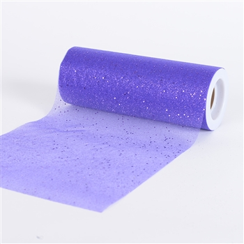 Purple Confetti Organza 6 Inch Roll 10 Yards