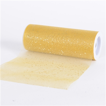 Gold Confetti Organza 6 Inch Roll 10 Yards
