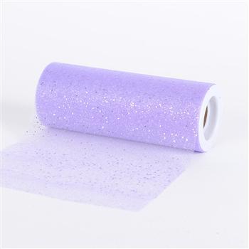 Lavender Confetti Organza 6 Inch Roll 10 Yards
