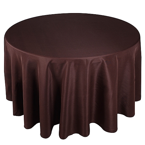 Chocolate Brown 70 Inch Round Tablecloths