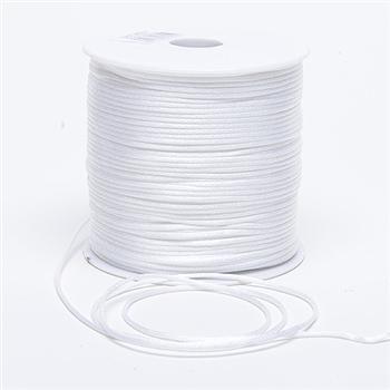 3 mm White Rattail Satin Cord