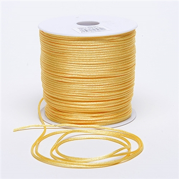 Baby Maize 3 mm Rattail Satin Cord 100 Yards