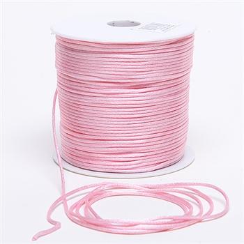 Light Pink 3 mm Rattail Satin Cord 100 Yards
