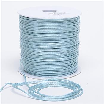 Light Blue 3 mm Rattail Satin Cord 100 Yards