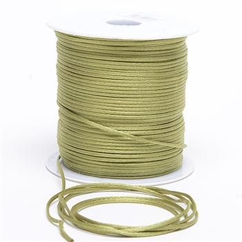 Moss Green 3 mm Rattail Satin Cord 100 Yards