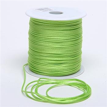 Apple Green 3 mm Rattail Satin Cord 100 Yards