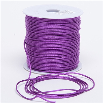 Ultra Violet 3 mm Rattail Satin Cord 100 Yards