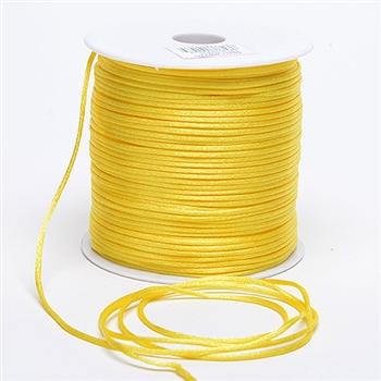 Yellow 3 mm Rattail Satin Cord 100 Yards
