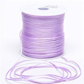 Lavender 3 mm Rattail Satin Cord 100 Yards