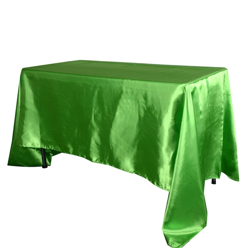 Apple Green 60 Inch x 126 Inch Rectangular Satin Tablecloths