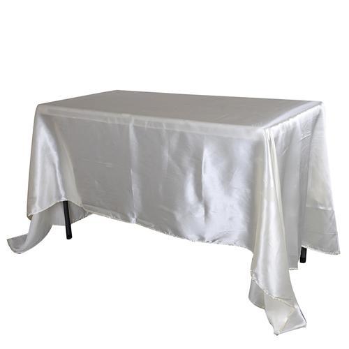 Ivory 60 Inch x 126 Inch Rectangular Satin Tablecloths