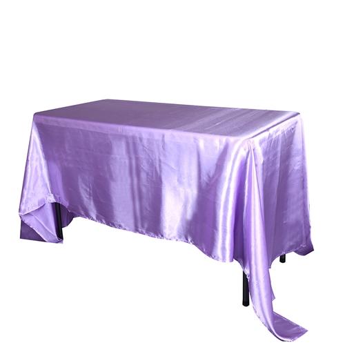Lavender 60 Inch x 126 Inch Rectangular Satin Tablecloths