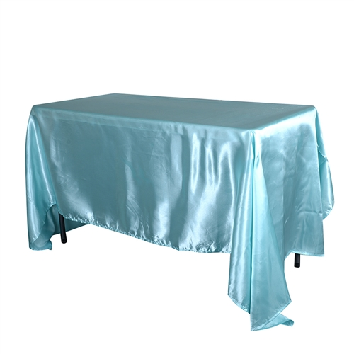 Aqua Blue 60 x 126 Inch Rectangular Tablecloths