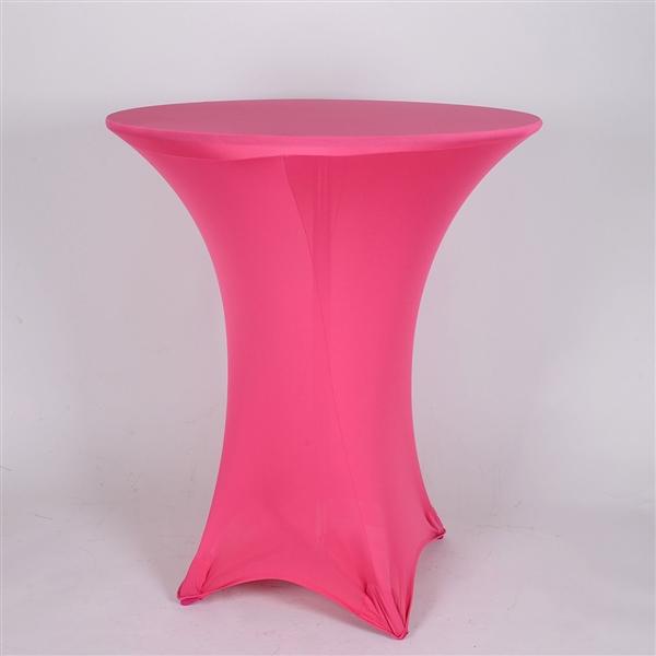 Fuchsia Spandex Cocktail Tablecloths