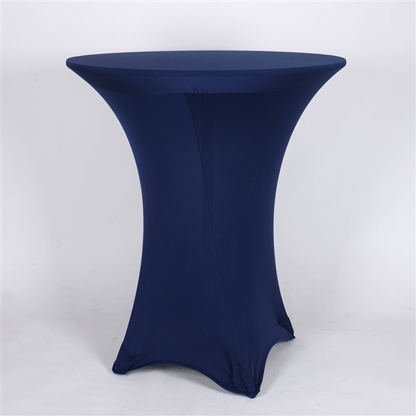 Navy Blue Spandex Cocktail Tablecloths