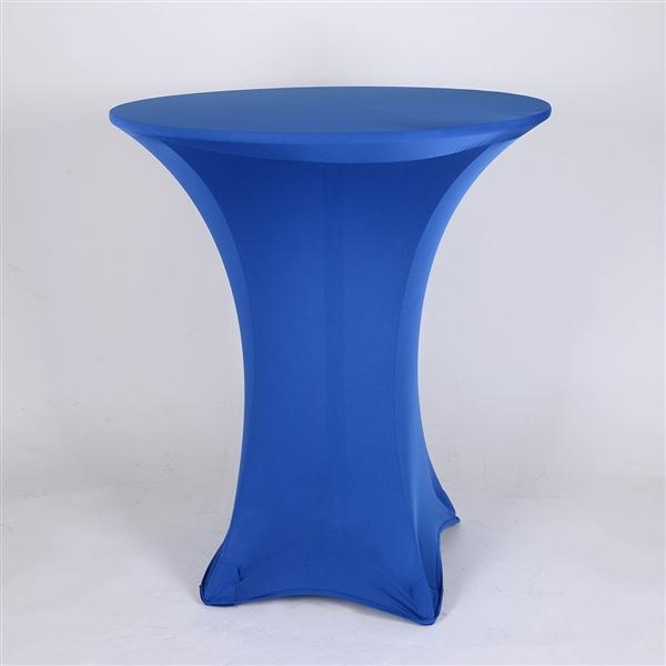 Royal Blue Spandex Cocktail Tablecloths