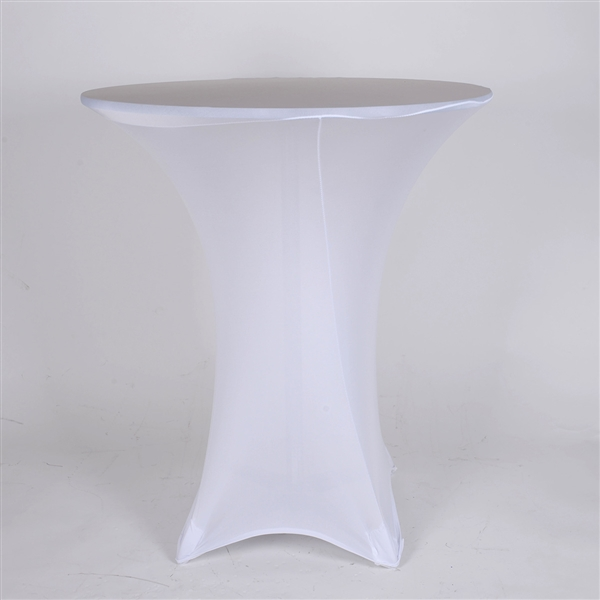 White Spandex Cocktail Tablecloths