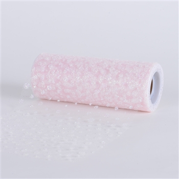 Light Pink Sparkle Dot 6 Inch Roll 10 Yards