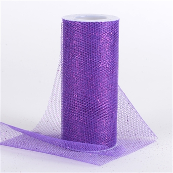 Purple Glitter Net 6x10 Yards
