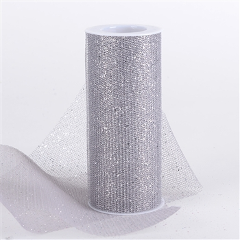 Silver Glitter Net 6x10 Yards