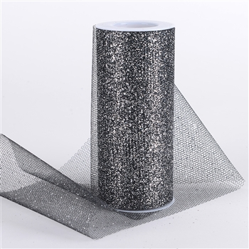 Black Glitter Net 6x10 Yards