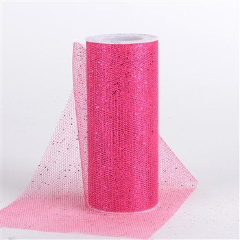 Fuchsia Glitter Net 6x10 Yards