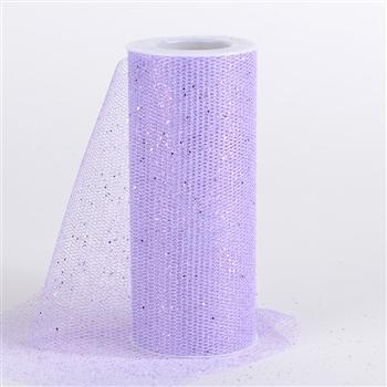 Lavender Glitter Net 6x10 Yards
