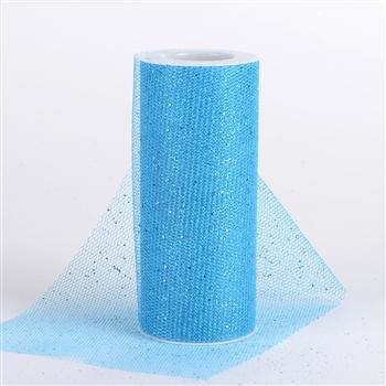 Turquoise Glitter Net 6x10 Yards