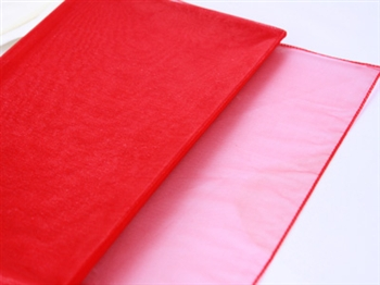 Red Wedding Organza Fabric Decor 28x6 Yards