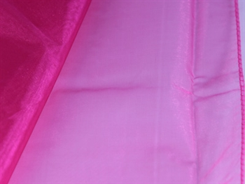 Fuchsia Wedding Organza Fabric Decor 28x6 Yards