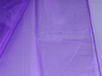 Purple Wedding Organza Fabric Decor 58x10 Yards