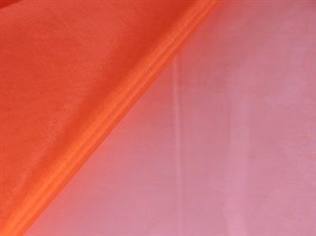 Orange Wedding Organza Fabric Decor 58x10 Yards