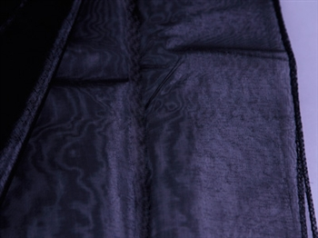 Black Wedding Organza Fabric Decor 58x10 Yards