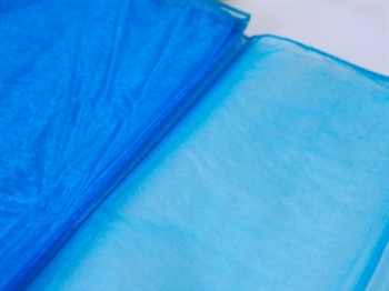 Turquoise Wedding Organza Fabric Decor 58x10 Yards