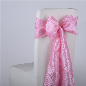 Pink Pintuck Satin Chair Bow ( 5 Pieces )