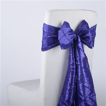 Purple Pintuck Satin Chair Bow ( 5 Pieces )