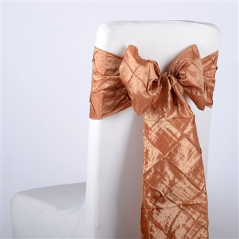 Gold Pintuck Satin Chair Bow ( 5 Pieces )