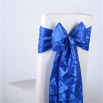 Royal Blue Pintuck Satin Chair Bow ( 5 Pieces )