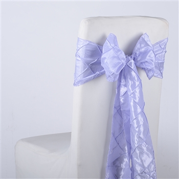 Lavender Pintuck Satin Chair Bow ( 5 Pieces )