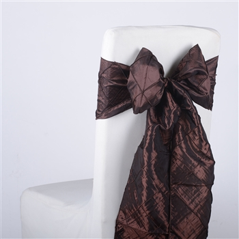 Brown Pintuck Satin Chair Bow ( 5 Pieces )