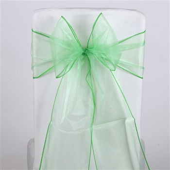 Mint Green Organza Chair Sash