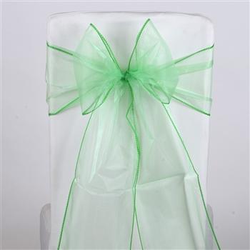 Mint Green Organza Chair Sash